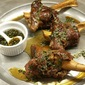 Orange and Maple Braised Lamb Shanks with Fresh Mint Sauce