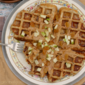 Peanut Butter Apple Raisin Waffles w/ Chia Seeds + a Better Breakfast Month Giveaway!