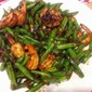 Stir Fried Shrimps with Green Beans