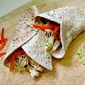 Chicken Wraps with Clover Sprouts and White Bean Spread