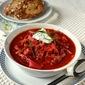 Borscht -- Russian Beet & Vegetable Soup (Vegetarian Recipe)