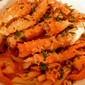 VODKA AND SPICY TOMATO-CREAM SAUCE WITH PENNE, KING CRAB LEGS AND SHRIMPS