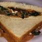 Creamy Spinach and Ham Sandwich