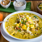Mulligatawny Soup with Apple/ Mango Salsa. It calms the soul in times of stress.