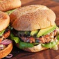 Easy Salmon Avocado Burgers