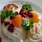 Brunch: Scallops, Chorizo and fried Eggs