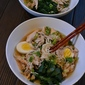 Chicken Challenge Meal #4: Udon Noodle Bowl with Chicken, Greens and Egg
