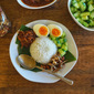 Nasi Lemak With Anchovy Sambal
