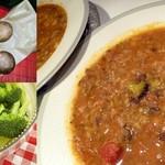 Mushroom Broccoli Tomato soup - Indian style