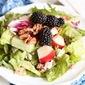 Blackberry & Pear Salad {with Red Wine Poppy Seed Vinaigrette)