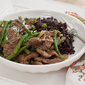Asian Beef Stir Fry with Asparagus and Mushrooms in Oyster Sauce
