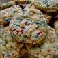 Krispie Sprinkle Cookies