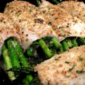 Rolled Chicken with Cheese Asparagus filling