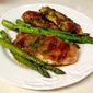 Mario Batali's Chicken Saltimbocca with Asparagus