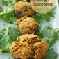Falafel stuffed mushrooms and the joy of unexpected visitors