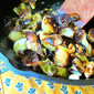 Roasted Brussels Sprouts w/ Honeyed Peanuts