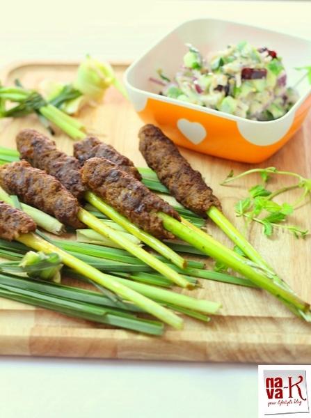 Lemongrass Lamb Kebab