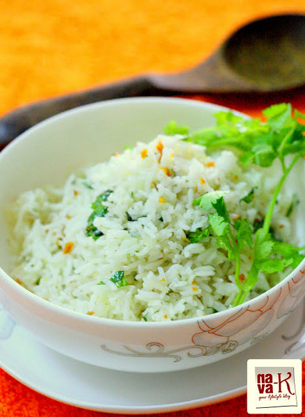 Garlic Coriander Rice