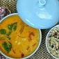 coconut-corn soup with red curry