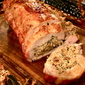 Andouille-Rice Stuffed Pork Loin