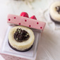 Mini Mint White Chocolate Cheesecakes with Gluten Free Brownie Crust