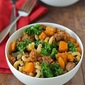 Healthy butternut and sausage chili mac