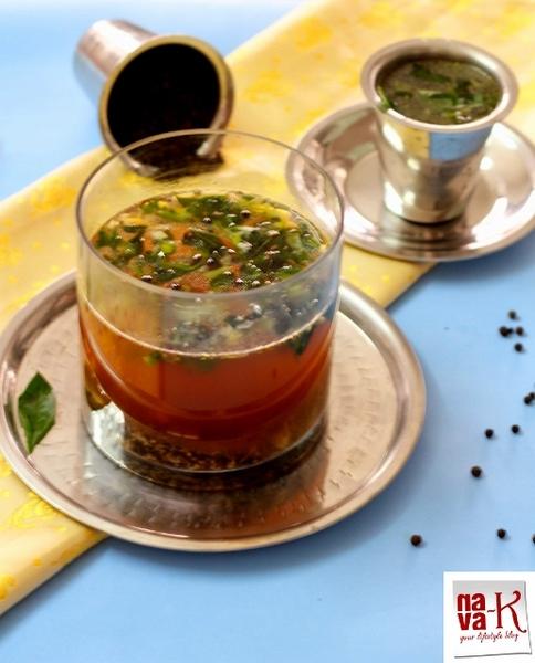 Pepper Garlic Rasam (Indian pepper soup)