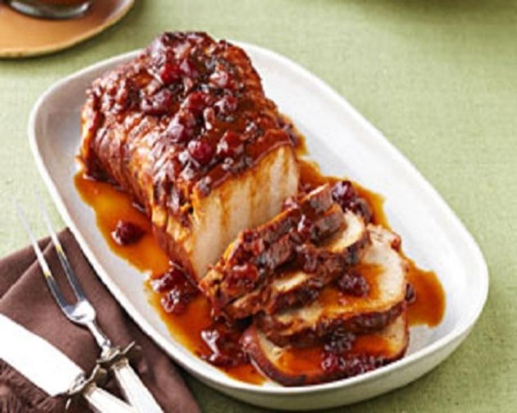 Crockpot Cranberry-Orange Pork Roast