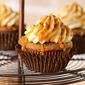 Pumpkin Spice Latte Cupcakes with Caramel Sauce