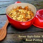 Le Creuset Apple Cocotte Baker...Featuring Savory Apple-Italian Sausage Bread Pudding + a Le Creuset Stoneware Bowl Giveaway!!