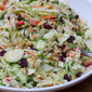 Cranberry Walnut Coleslaw with Shaved Brussels Sprouts