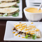 Football Philly Cheesesteak Quesadillas