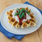 Cream of the Crop | Creamed Turkey and Thyme-Cornmeal Waffles