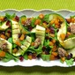 Arugula with Caramelized Pumpkin and Zucchini - a Thanksgiving Salad