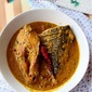Striped Sea Bass in mild coconut curry