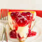 Cranberry-Eggnog Cheesecake