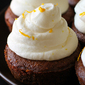 Gingerbread Cookie Cups with Orange Cream