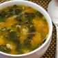 Autumn Harvest Soup with Butternut Squash, Kale, and Farro or Brown Rice