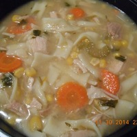 After Thanksgiving Turkey Noodle Soup