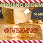 {Giveaway} Parmigiano Reggiano P.D.O. 36 months aged cheese + ceramic grated cheese bowl