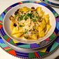 Pappardelle with Braised Chicken and Almonds