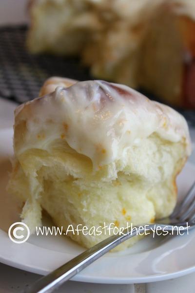 Tender Orange Sweet Rolls with Orange Cream Cheese Frosting