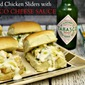 Chopped Chicken Sliders with Tabasco Cheese Sauce {Delicious Party Food}