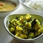Aloo Methi / Potato And Fenugreek Leaves Stir Fry