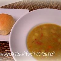 Heart Splity Pea Soup with Ham
