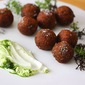 Lentil Croquettes with Yogurt Sauce