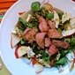 Grilled Steak and Pear Salads with Basil Vinaigrette