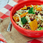 Farro Salad with Chicken and Beets and Red Wine Vinaigrette