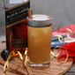 Spiced Pear-Pumpkin Whisky Fizz + Ideas for Hosting a Gift Wrapping Party