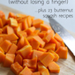 How to cut up butternut squash (without losing a finger!)